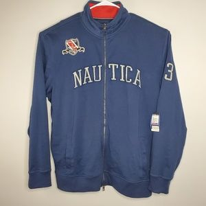 NWT Nautica Full Zip Blue Pullover Sweater